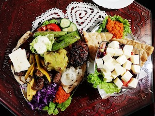 Mixed grill and salad