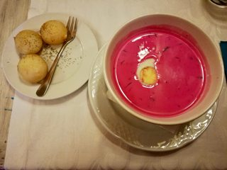 Chilled beetroot soup