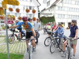 Cyclists In Stein