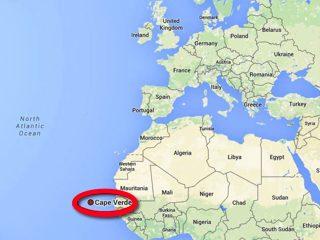 Map Cape Verde Islands